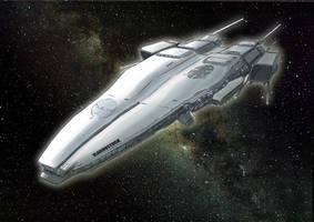 [WIP] Vladivostok cruiser class Magellan starship by psychee-ange