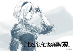 NeiR Automata fanart by psychee-ange