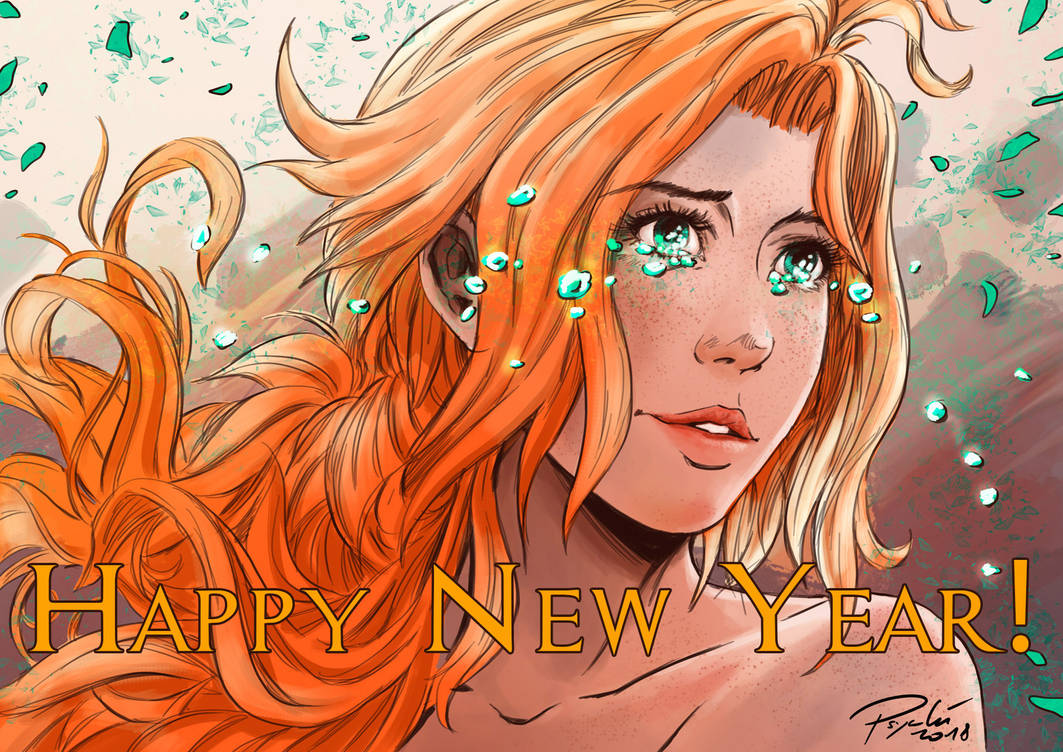 Happy new year ! by psychee-ange
