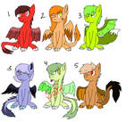 hybrid dragons adoptables by huskylaua