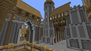 Proceeding on the castle. (minecraft)