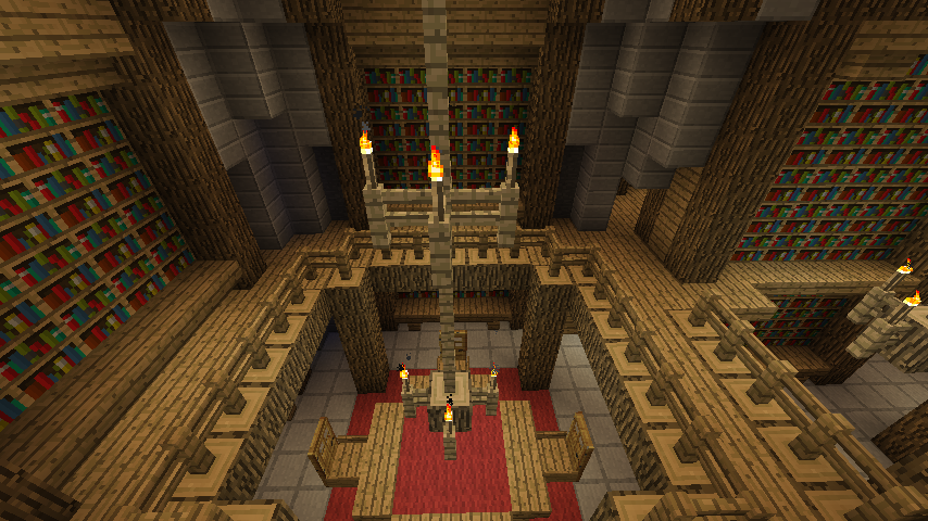 Library in the castle (minecraft) by Nosh0r on DeviantArt