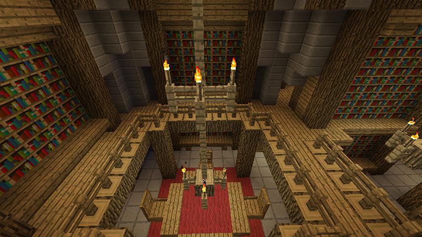 Minecraft Library Design On Amazing Minecraft Castle Interior Designs