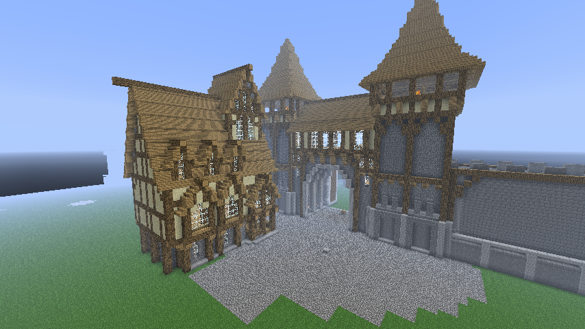 Main Entrance City With A First House Minecraft By Nosh0r On