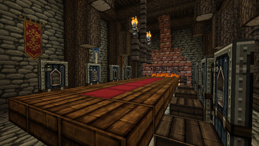 The drunken boar minecraft by nosh0r on deviantart for Minecraft dining room designs