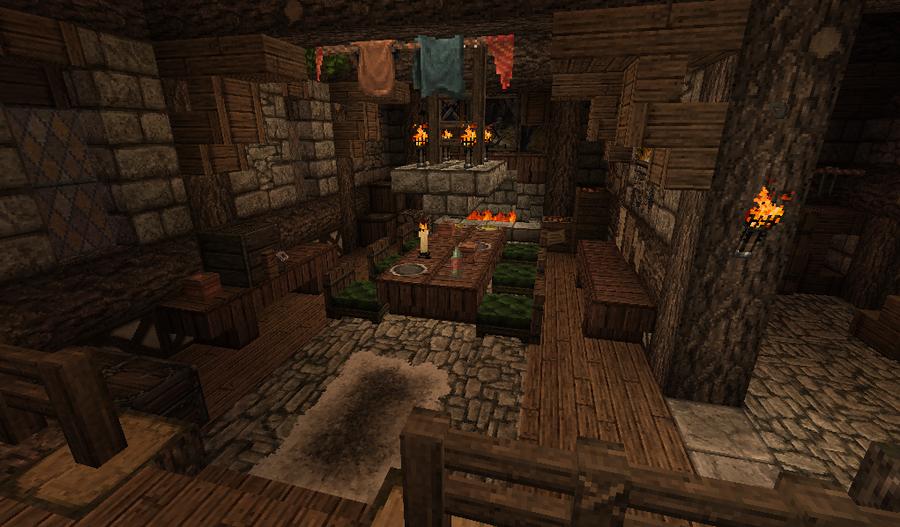Medieval Minecraft Interior By Nosh0r On Deviantart