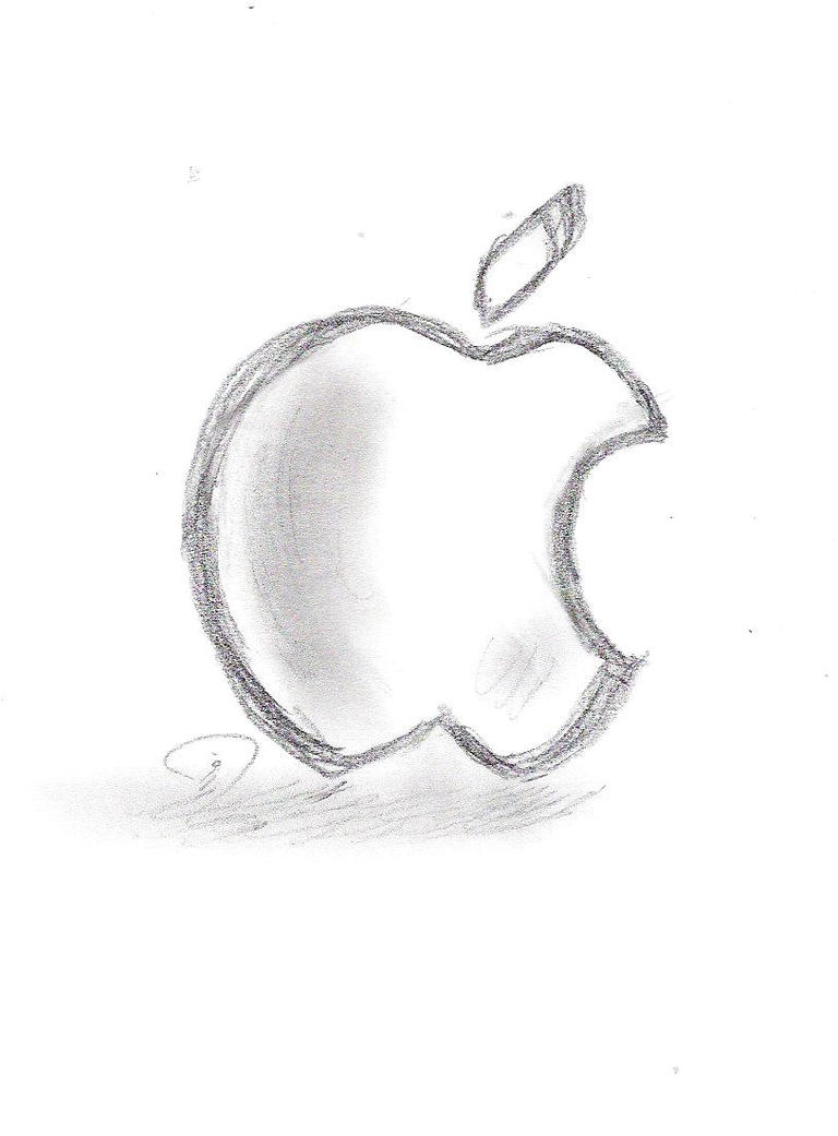 How To Draw Apple Logo