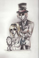 Alice and The Mad Hatter by R-becca