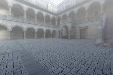 Fogy Court Yard by inkpadalan