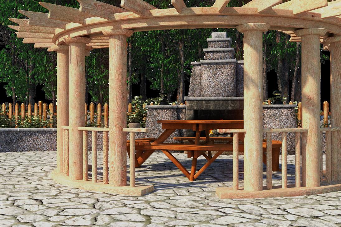 Backyard Background by inkpadalan