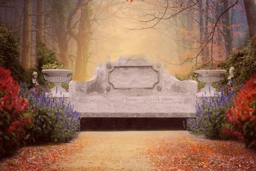 Concrete Seat Digital Backdrop