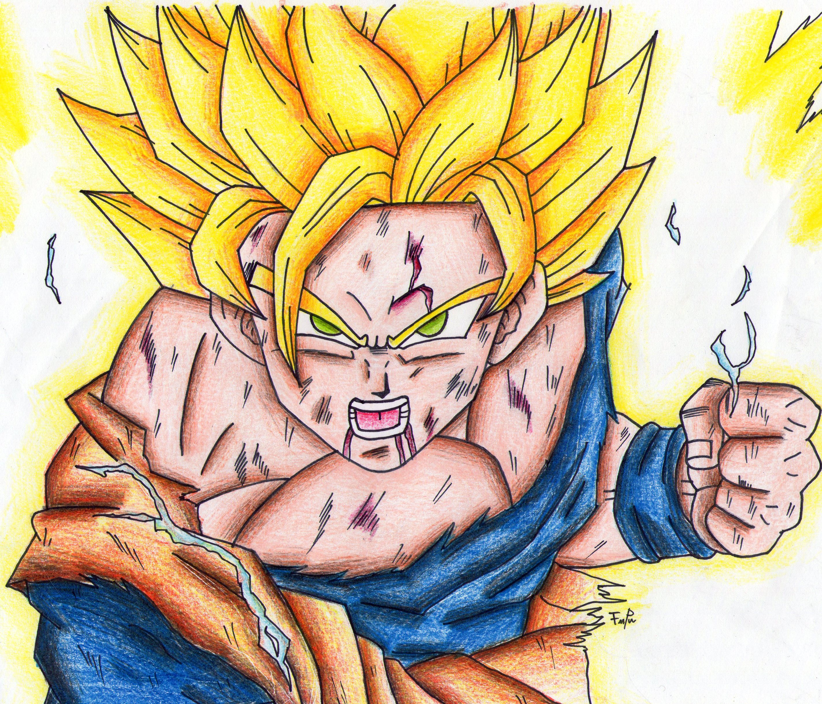 The gallery for --> Goku Ssj2 Drawing