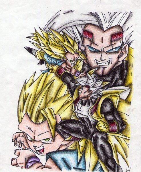 Goku GT Ssj3 Vs Baby Vegeta By Cheygipe