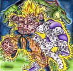 Goku Ssj V.s Freezer, Shenron and Porunga
