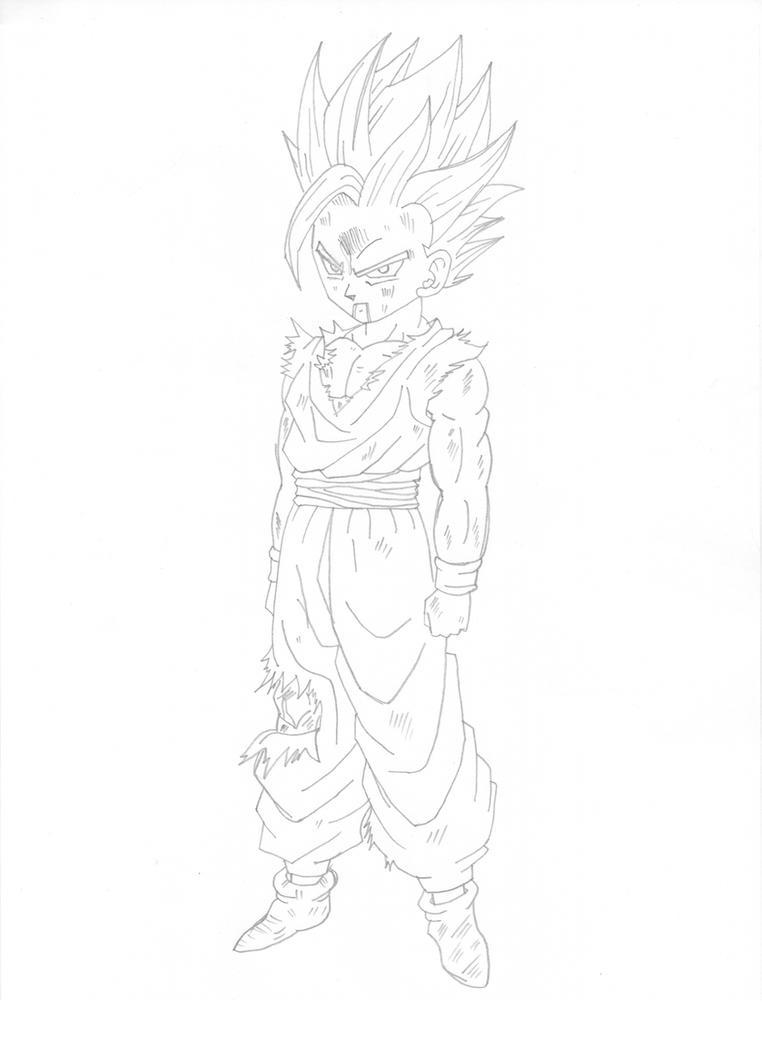 Berühmt Dragon Ball Z Malvorlagen Gohan Ssj2 Galerie - Entry Level ...