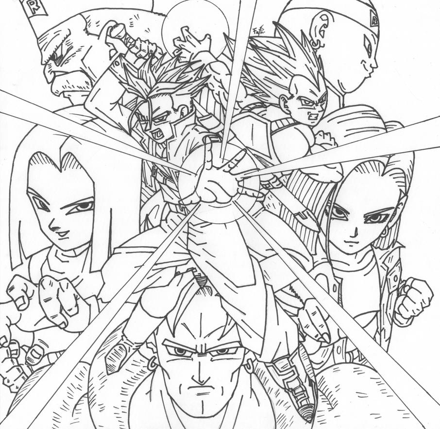 Dbz android saga by cheygipe on deviantart for Dragon ball z cell coloring pages