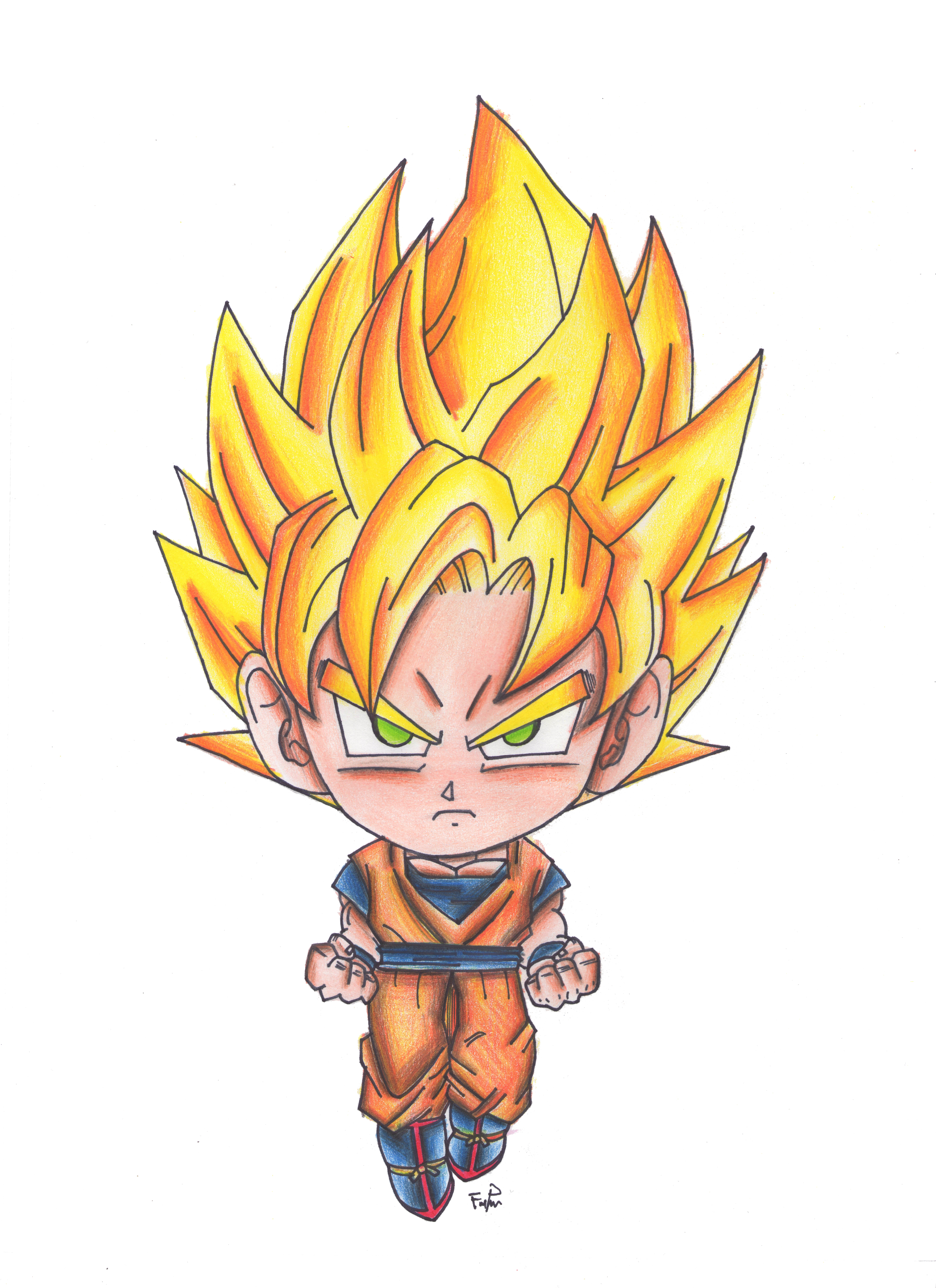 pictures of goku ssj drawing www