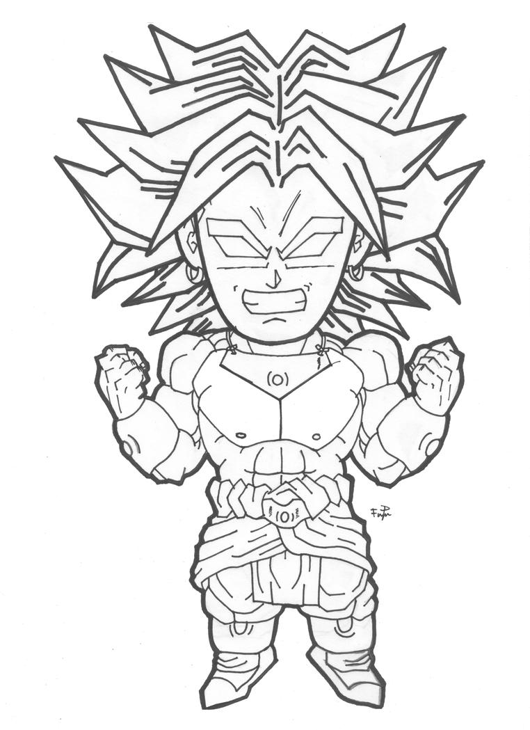 Chibi Broly Lineart by cheygipe on DeviantArt