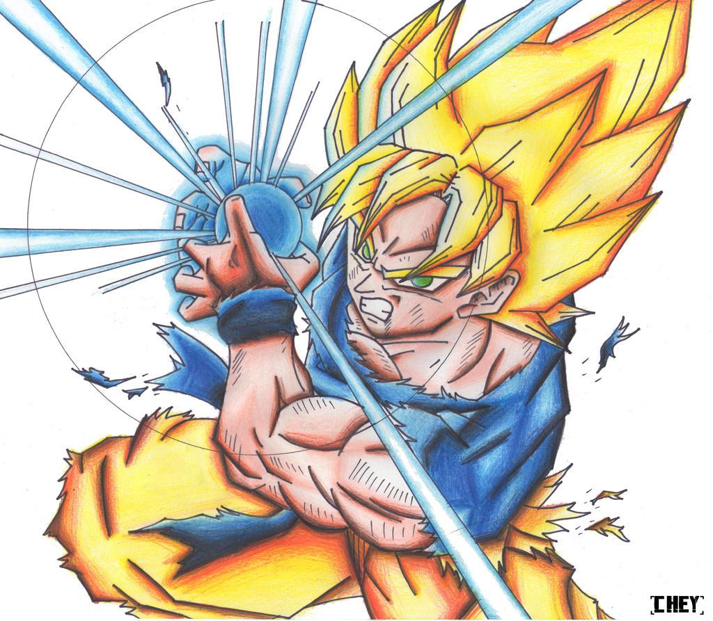 Goku Ssj Kamehameha! by cheygipe on DeviantArt