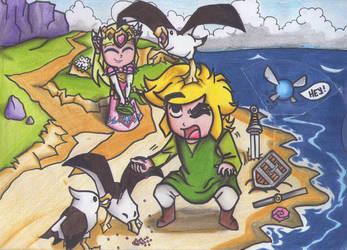 Zelda, Link and Navi by cheygipe