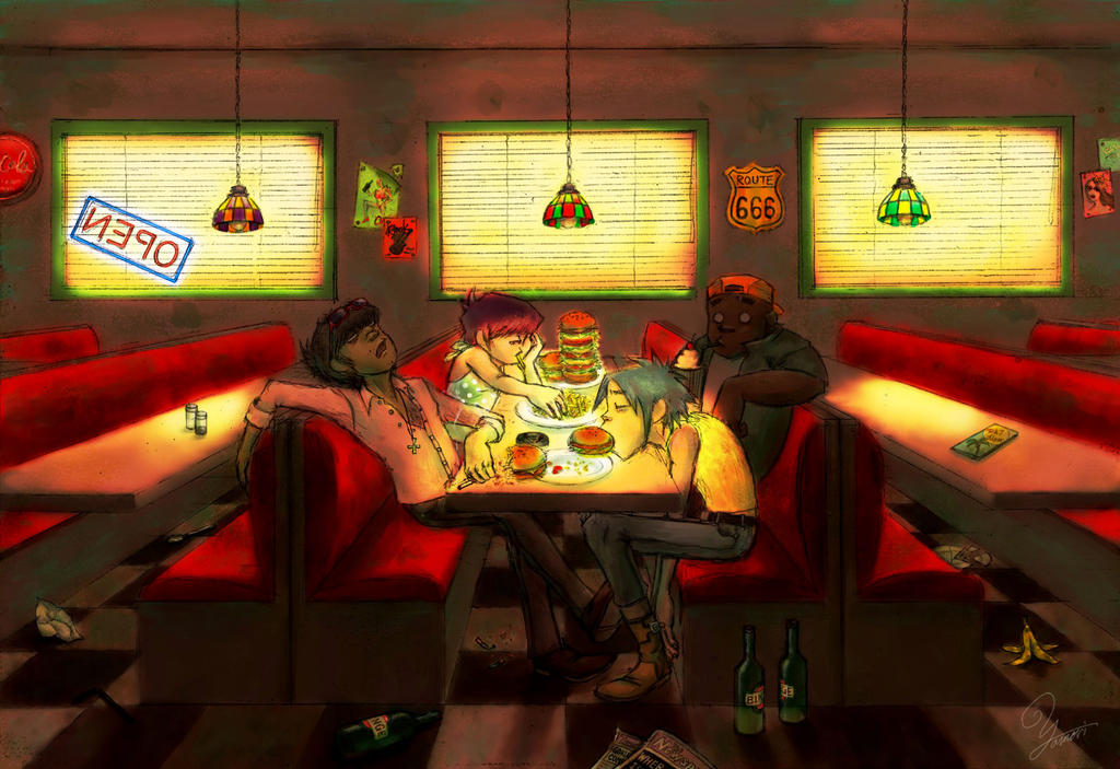 Diner by rokutobiyamori on deviantart for Diner artwork