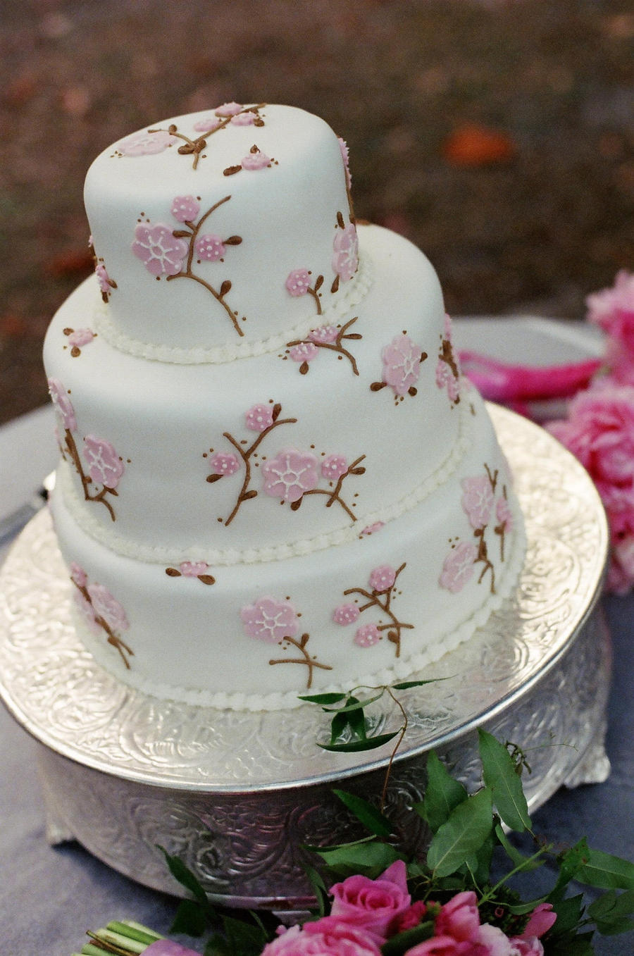 Cherry Blossom Wedding Cake By Ncspurlin On Deviantart