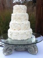 Buttercream Wedding Cake by ncspurlin