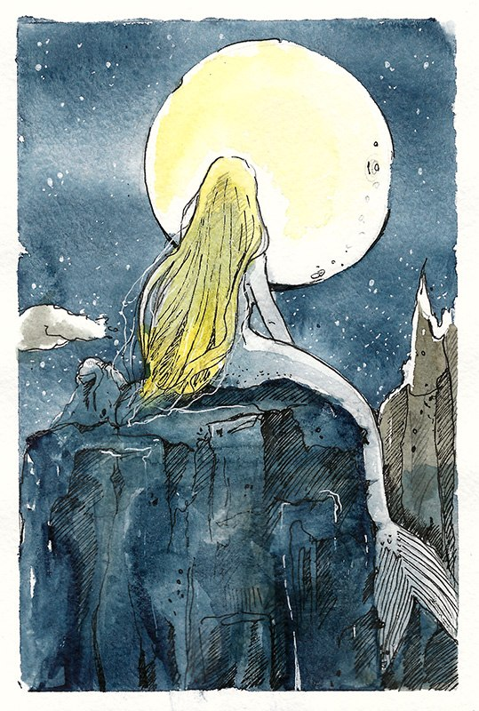 Moonlit night. by Kettana
