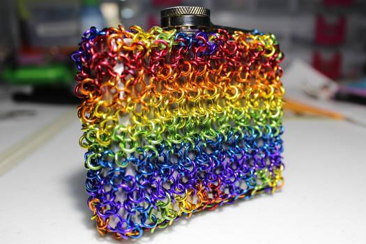 LGBTQ GLBTQ Inspired v2.0 Chainmaille Flask