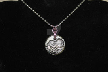 Simple Steampunk and Chainmaille Necklace