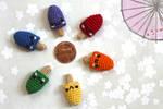 Kawaii Miniature Crocheted Amigurumi Popsicles