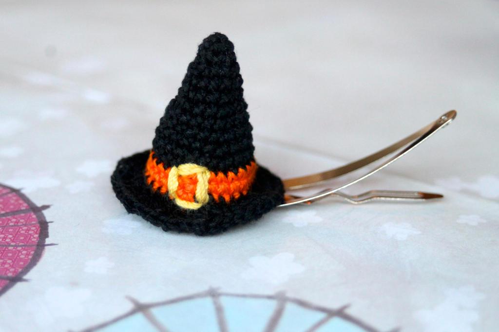 Amigurumi Mini Hat : Crocheted Miniature Amigurumi Halloween Witch Hat by ...