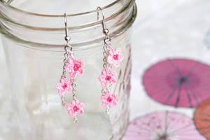 Cherry Blossom Earrings by TheBittiestBaubles