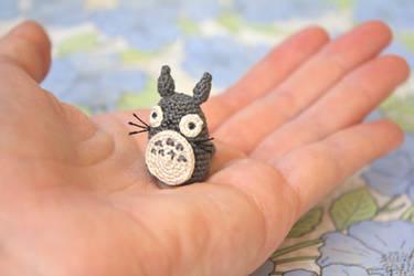 Miniature Totoro Amigurumi by TheBittiestBaubles