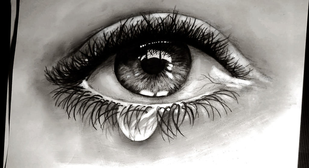 Crying eye by gosiasullivana7x on DeviantArt