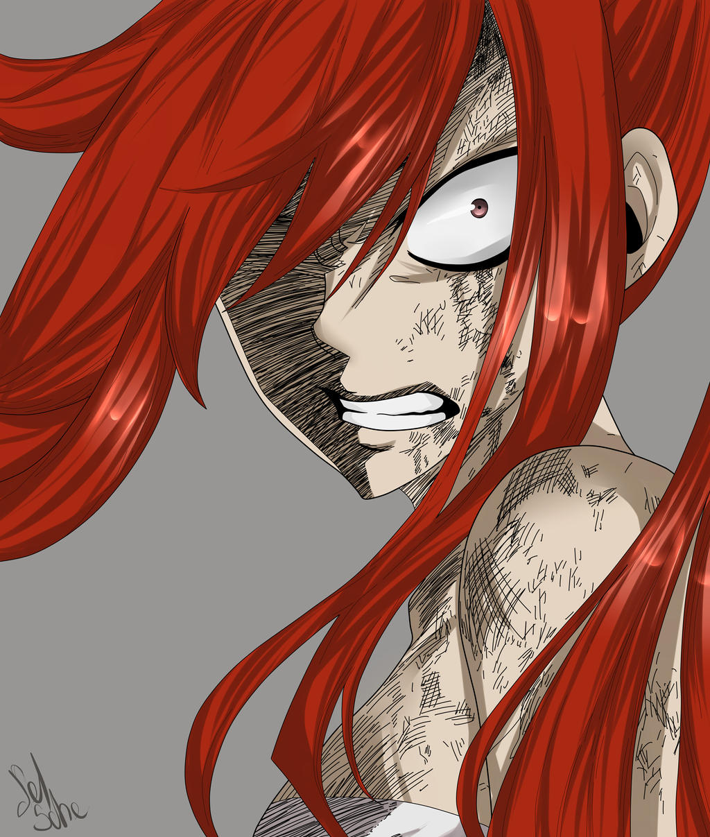 Erza angry by Selma-Schefer on DeviantArt