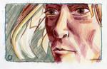 Elfins Face in pen and pencil