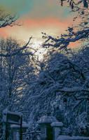 Sunset and snow by Alexandra Cook aka Linandara  by linandara