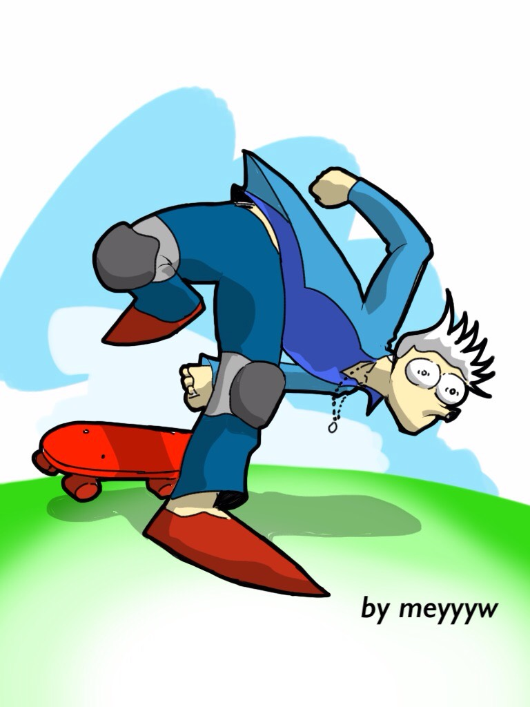 skateboarding by meyyyw