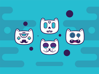 Weirdo cats by Alineshh