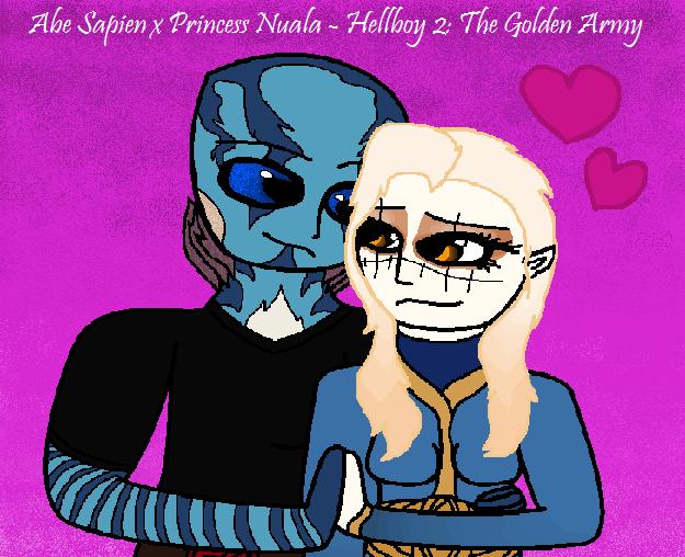 Abe Sapien x Princess Nuala ~ Hellboy 2 by DreamcatcherSkies16