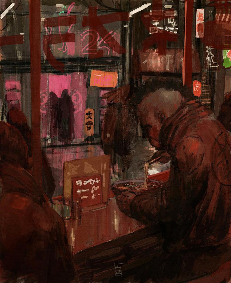 Neo Ramen Shop by MangaAssault