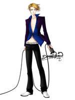 Vocaloid Leon 02 colored by Enma-Rakuen