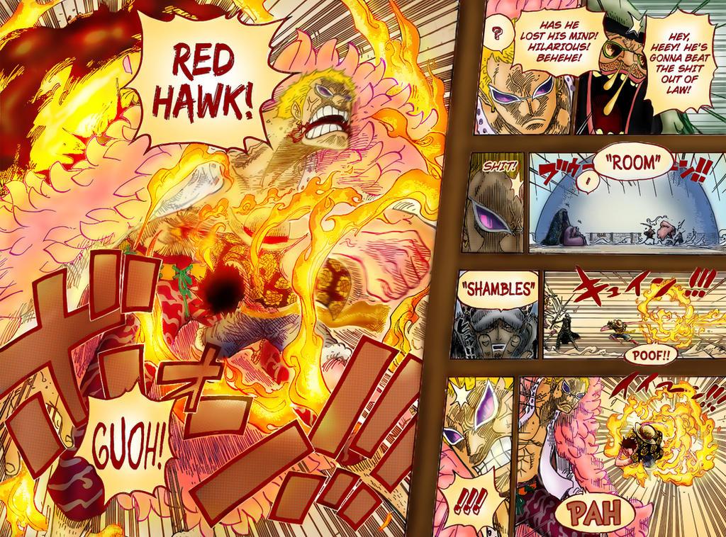 Red Hawk - Luffy vs. Doflamingo by Charly-Z on DeviantArt