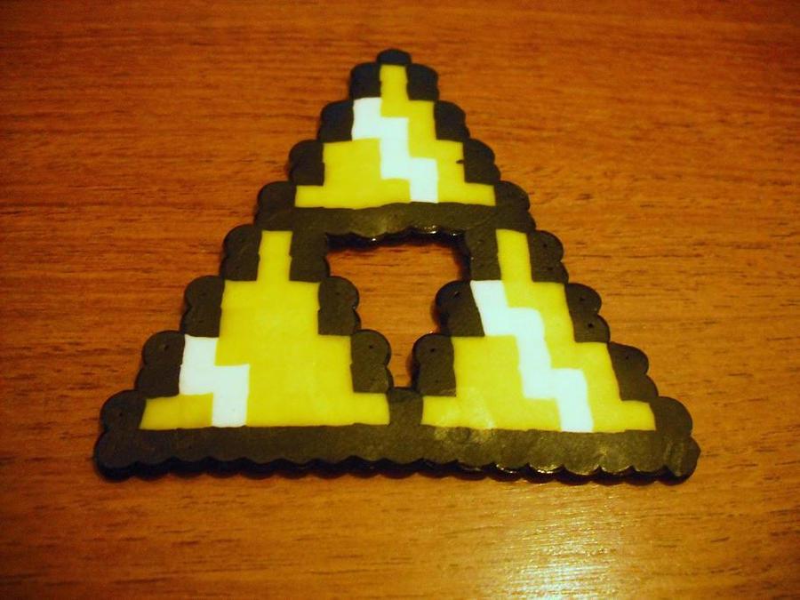 pixel art zelda triforce