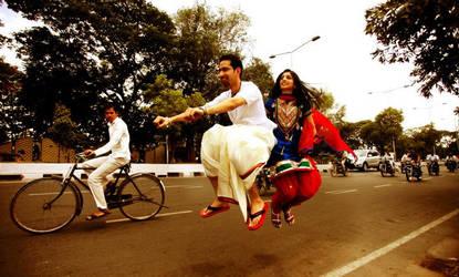 wedding bike