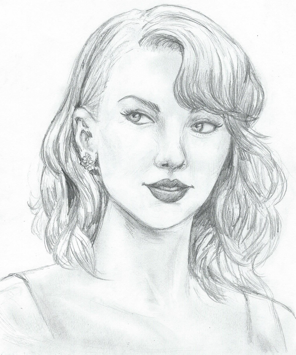 how to draw taylor swift step by step slowly