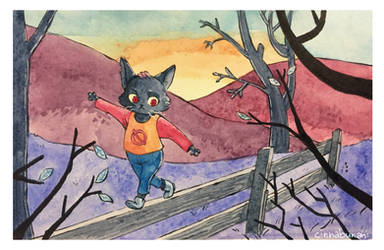 Inktober 2018: Scaredy Cat by CinnabunAni