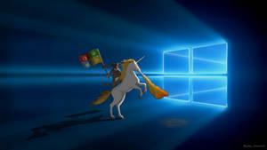 Windows 10 Ninja Cat Unicorn by KrokoZero