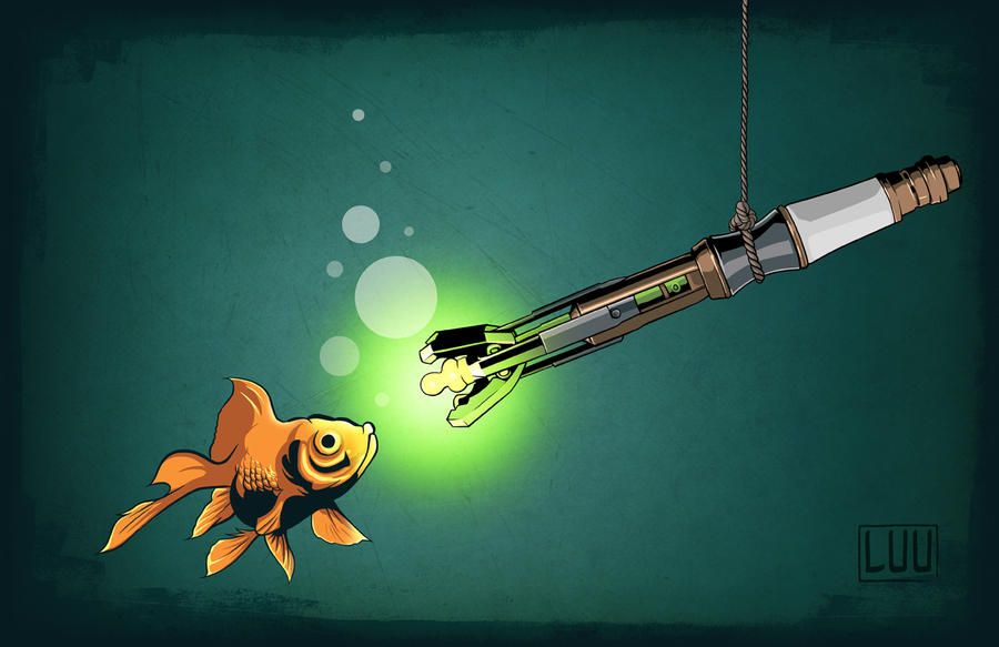 Doctor who fishing by kaminoshi on deviantart for The fish doctor